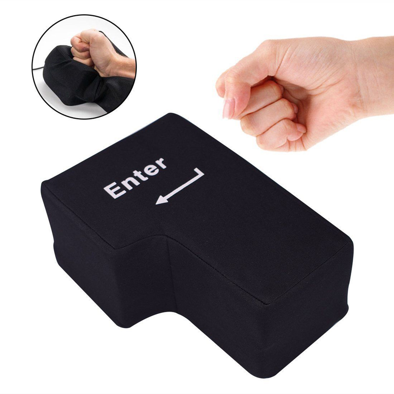 USB Big Enter Key Large Enter Key Decompression Computer Any Vent Button Desktop Pillow For Programmer Stress Relief USB Gadget