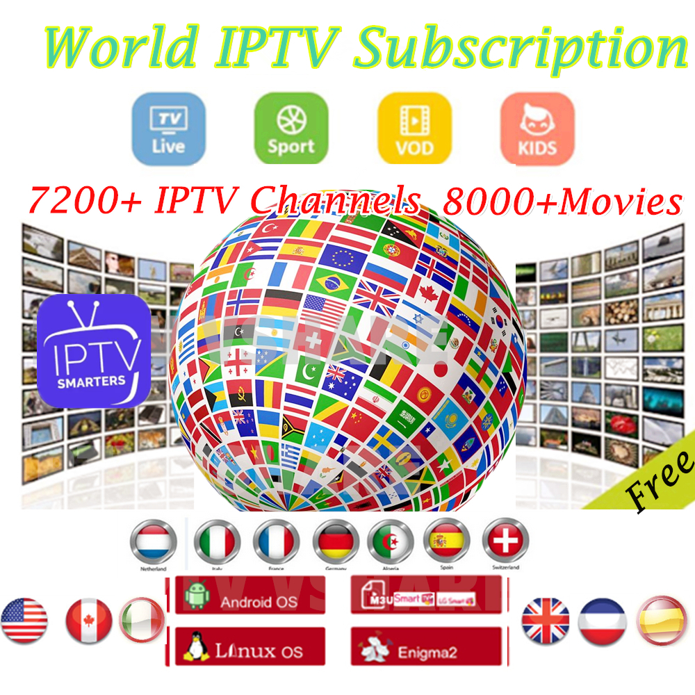 IPTV World IPTV German Netherland Subscription 7200Live Tv  IPTV Europe Abonnement IPTV Subscription M3U Free UK IT ES PL France