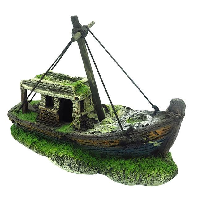 Aquarium Pirate Ship Wreck Ornament  5