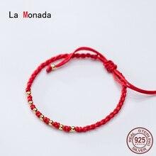 La Monada Red Thread For Hand 925 Sterling Silver Women's Br