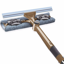 Window Washing Brush Washer Mop Wash Clean Glass Scraper Cleaning Telescopic Squeegee  Cleaner Wiping Silicone Wonder Wiper Set