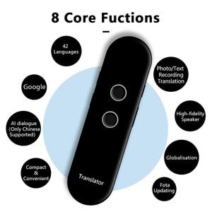 Image 2 - Newest T4 Upgrade interpreter smart portable voice translator Instant Real time language translator Bluetooth VoiceTranslator