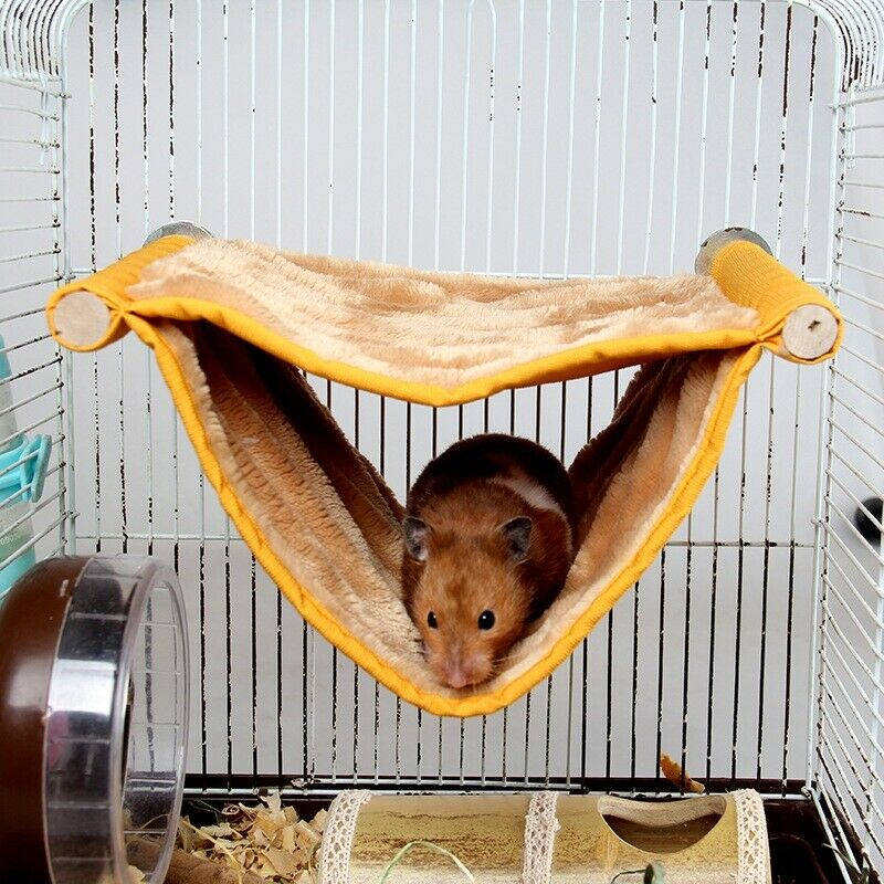 Breathable Hamster Hanging Bed Chinchilla Hammock Cage Mesh Bed Bird Deluxe Pig Rabbit Bed Mat Small Animals Accessories Cages