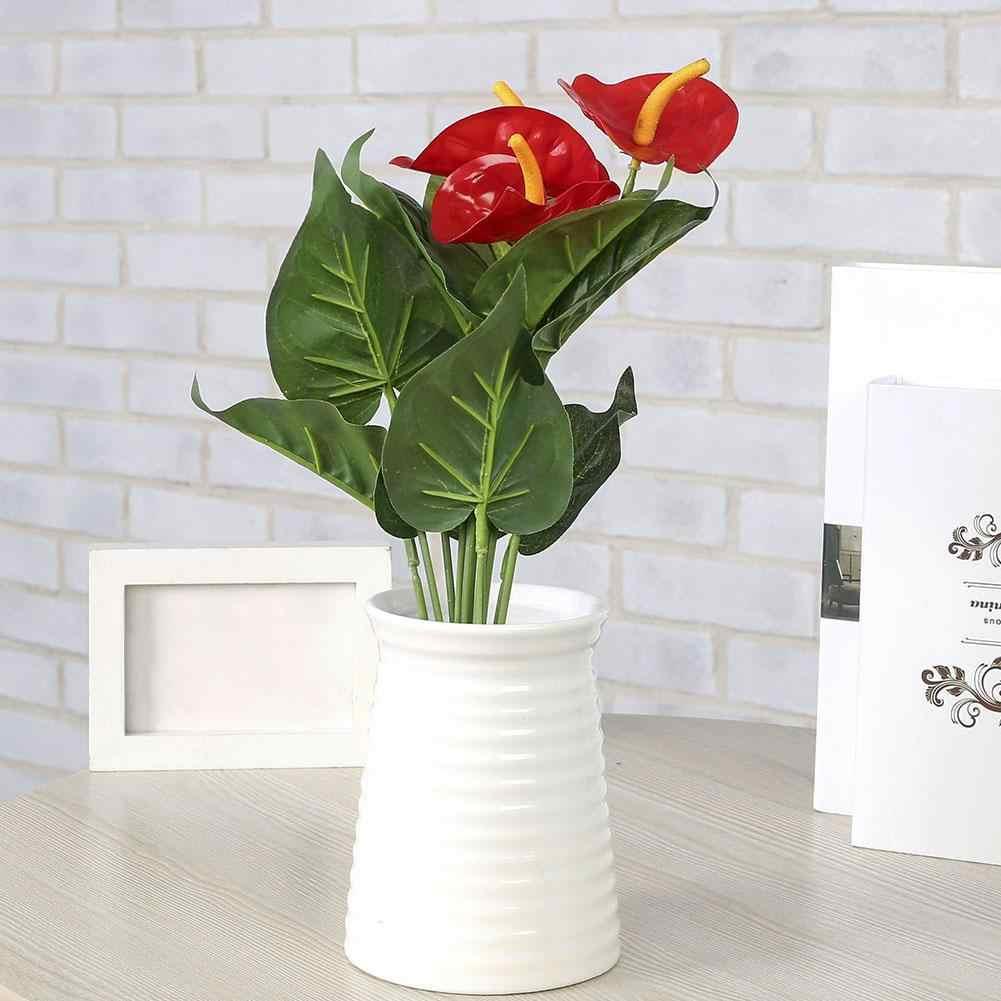 Hot 1Pc Kunstmatige Anthurium Bloem DIY Garden Party Thuis Bruiloft Bureau Decor