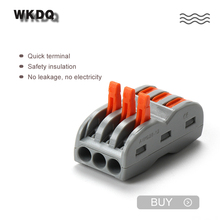 222 423 di Spinta In Connettore Compact filo di Cablaggio del Connettore della Morsettiera di plastica Veloce terminator terminale blocco di Connettori 20pcs