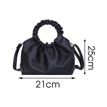 PU Leather Cloud Tote Bags For Women 2020 Solid Color Shoulder Messenger Bag Female Handbags and Purses Travel Totes