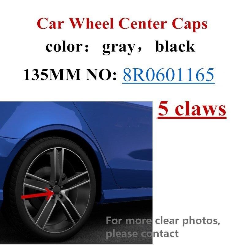 4 шт., пятиконтактные колпачки на ступицу колеса, автомобильные крышки 2009-2013 для A3 S3 Q5 8R0601165 8R0 601 165, автомобильные аксессуары