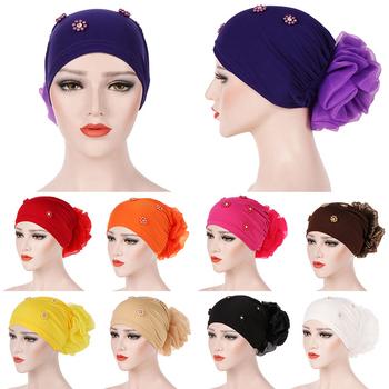 Unikalny Temperament kapelusz z kwiatem zroszony czapka Baotou jednokolorowy kapelusz Pan kapelusz z kwiatem stylowy ładny tył z kwiatem chustka na głowę tanie i dobre opinie MSFGJZM Cztery pory roku WOMEN Z pałąkiem na głowę COTTON Adult Wielofunkcyjne CASUAL CN (pochodzenie) Spring2021 Stałe