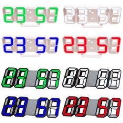 3D cyfrowy zegar stołowy zegar ścienny oświetlenie nocne LED wyświetlacz data czas Alarm temperatury drzemki dekoracja wnętrz pokój dzienny USB