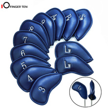 Golf-Iron-Head-Covers Iron-Club All-Golf Waterproof for Deluxe Synthetic-Leather 10/12pcs