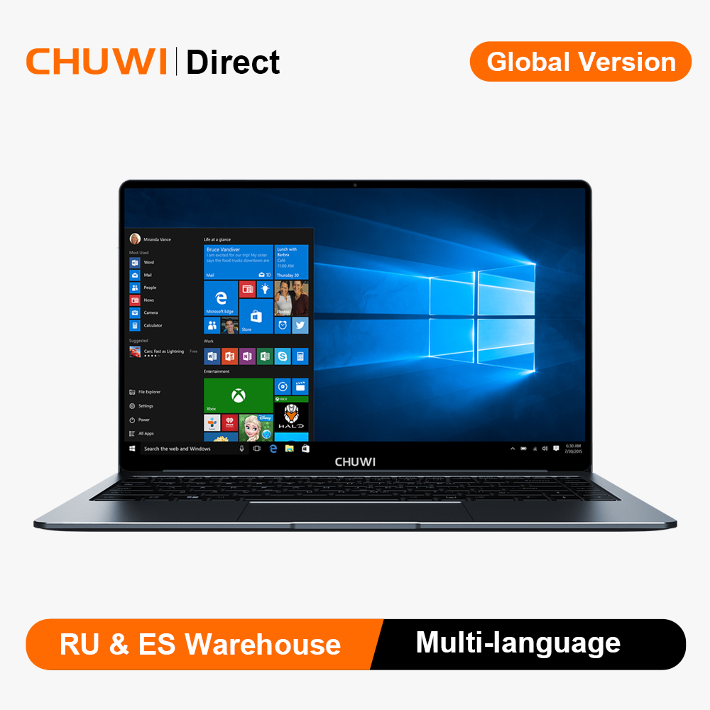 CHUWI LapBook Pro 14.1 Inch 1920*1080 Intel Gemini-Lake N4100 Quad Core 8GB 256GB SSD Windows 10 Laptop with Backlit Keyboard