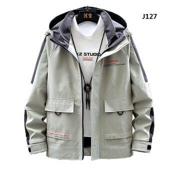 De los hombres casuales Hip Hop chaqueta con capucha 2020 nuevo de retazos abrigo de los hombres de alta calidad de carta bombardero chaqueta abrigo Streetwear;YA365