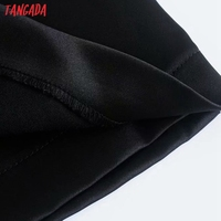 Tangada Women Black Party Dress Beading Sleeveless Backless 2021 Fashion Lady Dresses Robe 3H129 5