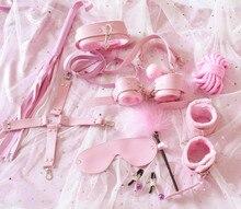 10 ピース/セットセックス製品エロおもちゃ大人緊縛ボンデージセットテール肛門プラグ手錠乳首クランプギャグ鞭ロープのおもちゃカップルのための