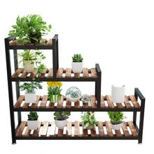 냄비 Varanda Plantenrekken Stojaki Soporte Plantas 인테리어 실내 스탠드 발코니 꽃 장식 Stojak Na Kwiaty Plant Shelf