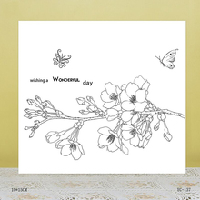 AZSG Beautiful flowers Clear Stamps For DIY Scrapbooking/Card Making/Album Decorative Rubber Stamp Crafts