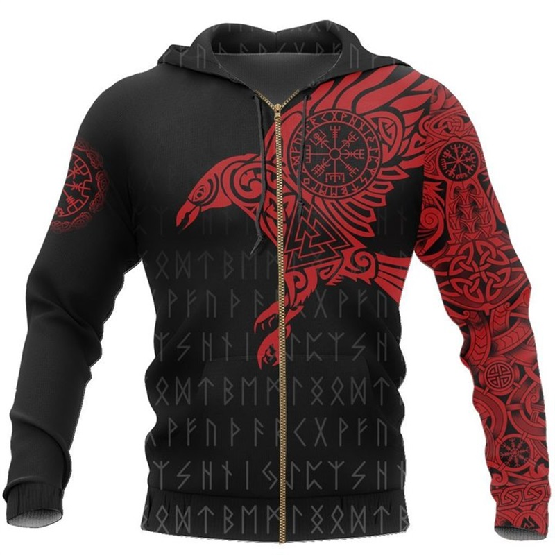 The Raven of Odin Viking 3D Printed Hoodie 12