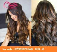 Certificeren Kosher 18 Inches Donkerbruin Met Hoogtepunt Europese Virgin Hair Kosher Pruik Joodse Pruik Beste Sheitels Gratis Verzending