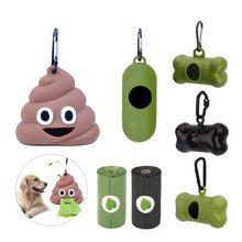 Distributeur de sacs de déchets pour chiens, porte-déchets, vert, noir, fournitures pour animaux domestiques, accessoire pour chiens et chats, petits outils, porte-sac à merde
