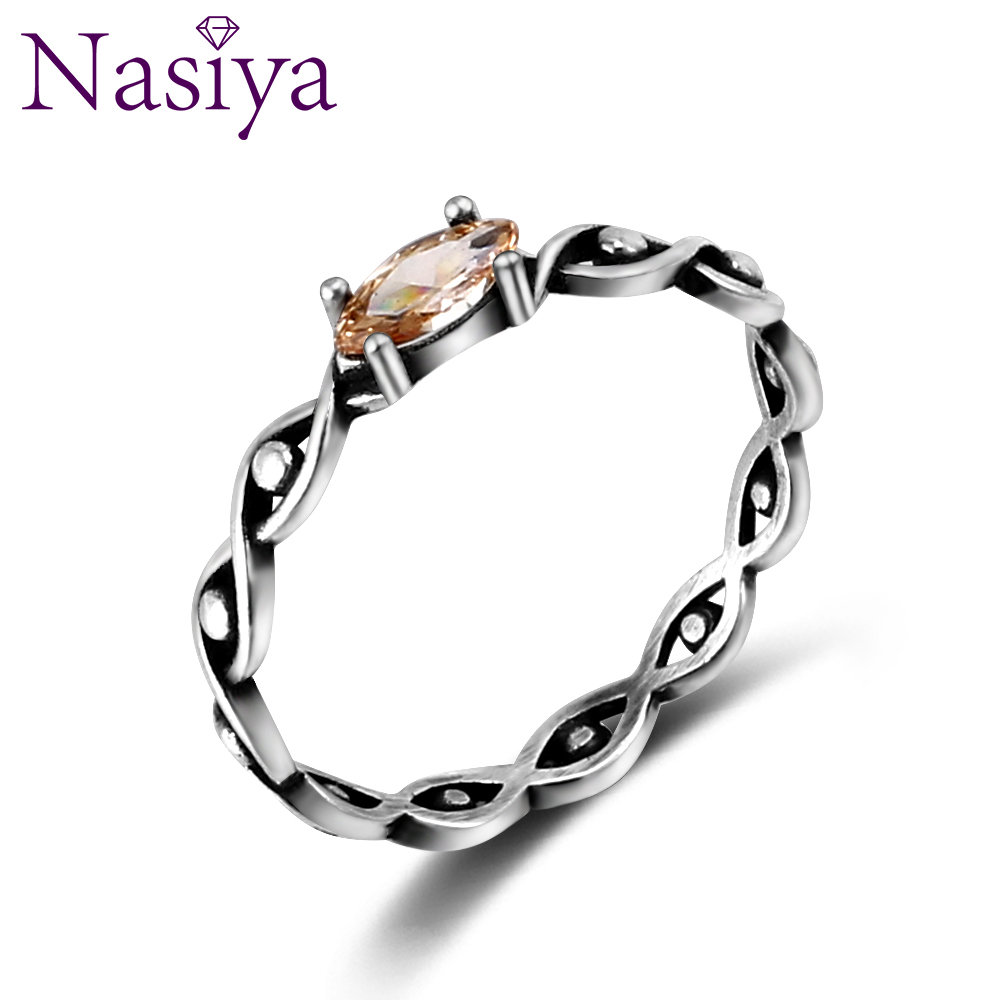 Details about  /Pink White Cubic Zirconia Gemstone 925 Solid Sterling Silver Handmade Band Ring