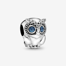 2019 Autumn New 925 Sterling Silver Beads Cute Sparkling Owl Charms fit Original Pandora Bracelets DIY Jewelry For Women wostu authentic 100% 925 sterling silver cute owl love story charms fit original wst bracelets diy jewelry gift cqc425