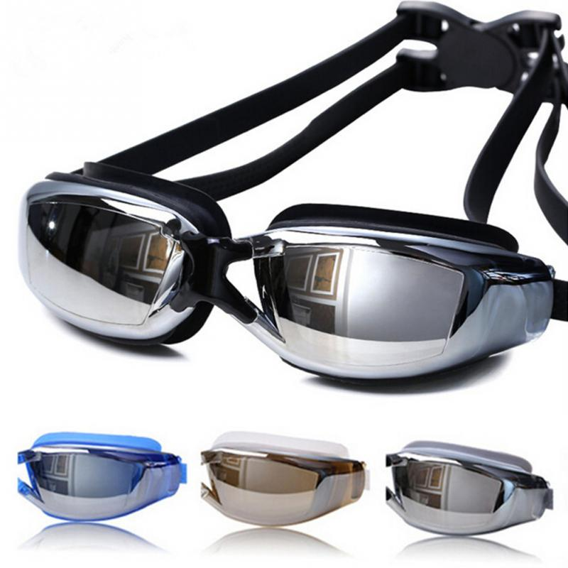 Electroplating Waterproof Anti-fog and Anti-UV Swimming Goggles Adjustable Elastic Swimming Goggles Unisex Swimming Diving Glass(China)