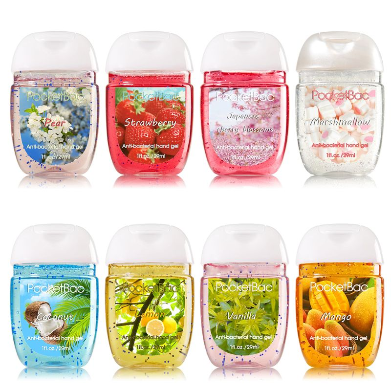 Travel Portable Mini Hand Sanitizer Anti-Bacteria Moisturizing Fruit-Scented Disposable No Clean Waterless Clear Bottle Shampoo