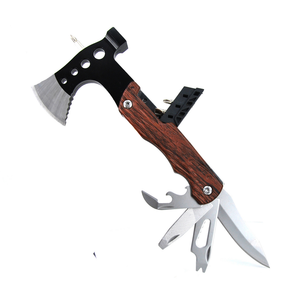 Multifunctional Survival Tomahawk Ax Stainless Steel Camping Axe Hunting Hatchet Mini Firefighter Tactical Hammer Hand Machete image