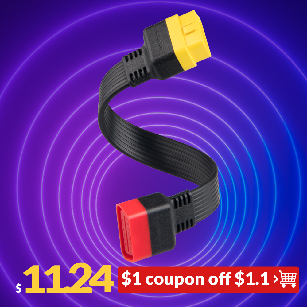 Launch OBD Extension Cable For X431 V/V+/PRO/PRO 3/Easydiag 3.0/Mdiag/Golo Main OBD2 Extended Connector 16Pin Male To Female