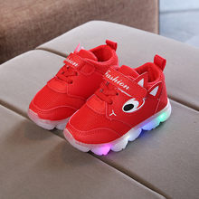 LED Shoes Kids Toddler Baby Girs LED Light Shoes Boys Soft Luminous Outdoor Sport Shoes Sapato Infantil Luminous Sneakers Oct 23(China)