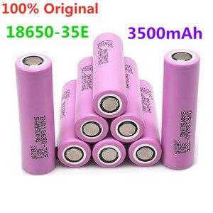 2~20 PCS 100% Origin18650 35e For samsung 18650 3500mAh 13A discharge INR18650 35E 18650 battery Li-ion 3.7v rechargable Battery