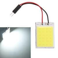 2Pcs/Lot Xenon HID Light Bulb White COB LED Car Dome Map Light Interior LED Panel Lamp 12V 5500K-6000K 24LED/48LED car styling