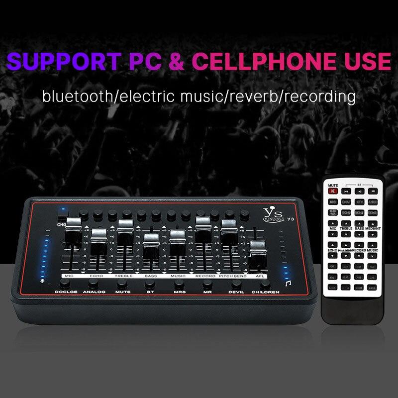 Bm 800 Microphone Sound Card DJ Karaoke External Sound Mixer Phantom Power Audio Interface For Bm800 Studio Computer Microphone