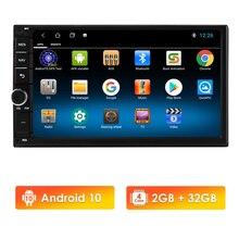 Android 10 2 Din araba radyo multimedya Video oynatıcı evrensel otomatik Stereo GPS harita için Nissan Hyundai Kia toyota