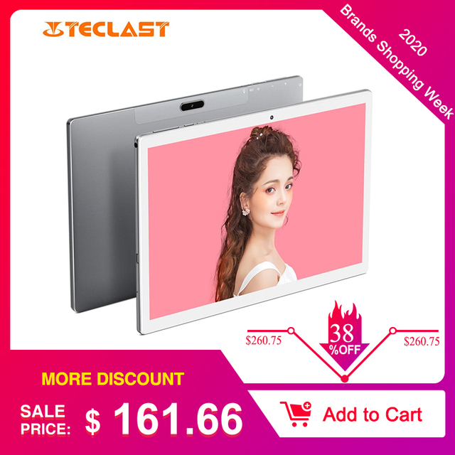 Teclast M30 4GB + 128GB Tablet 10.1 inch 2560x1600 MT6797X X27 10 Core Android 8.0 PC Dual 4G WIFI Network Tablets 1