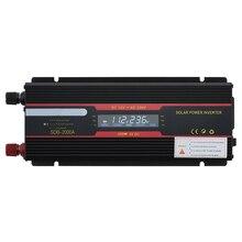 Araç invertörü 12V 220V 6000W/4000 tepe güç inverteri voltaj dönüştürücü trafo 12V 220V invertör + LCD ekran