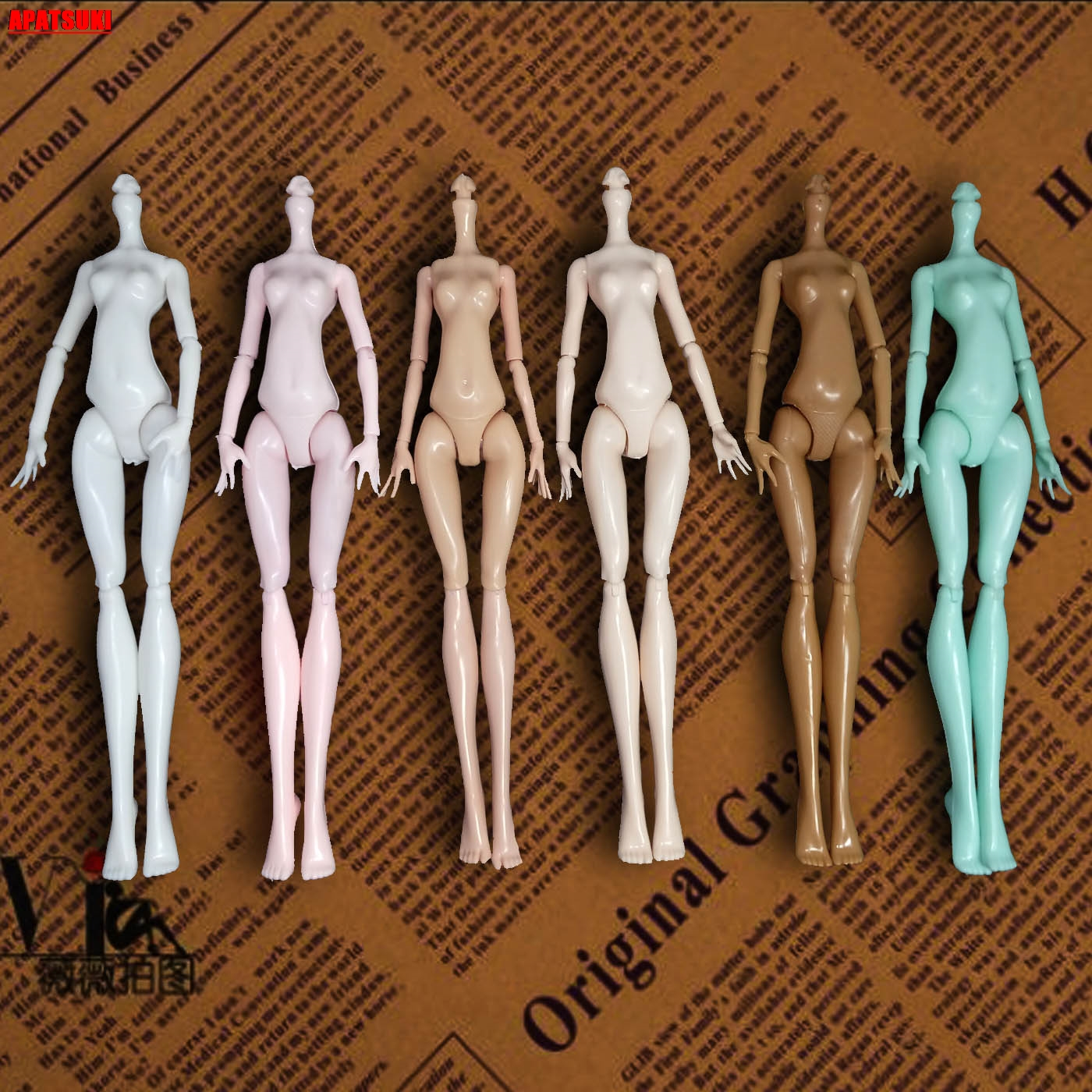 Imitation Demon Monster Doll Naked Body Without Head For Monster High Dolls DIY Fairytales Rotatable Joints Doll Accessories Kid