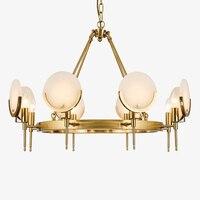현대 led 샹들리에 금속 대리석 조명 미국 거실 식당 조명기구 호텔 빌라 haohua 교수형 램프