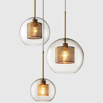 Loft Modern Pendant Light Glass Ball Hanging Lamp Kitchen Fixture Dining Hanglamp Living Room Luminaire