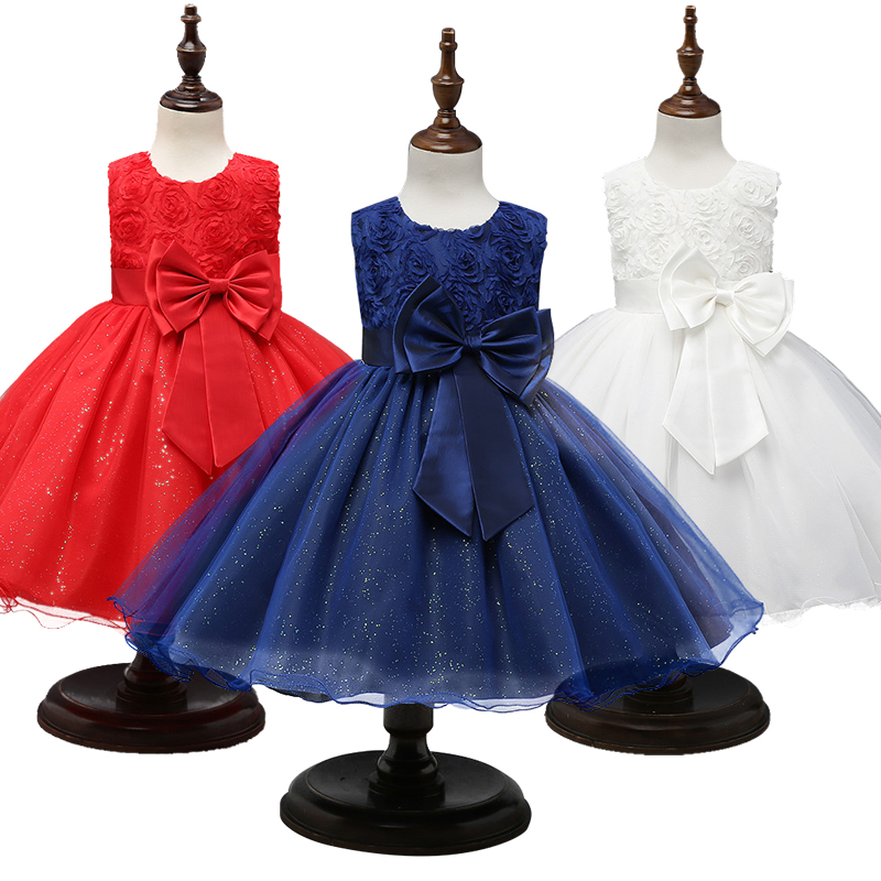 First Communion Dress Girls New Year Costume Kids Dresses for Girls Party Ball Gown Princess Dress Size 3 5 8 10 12 Years 1