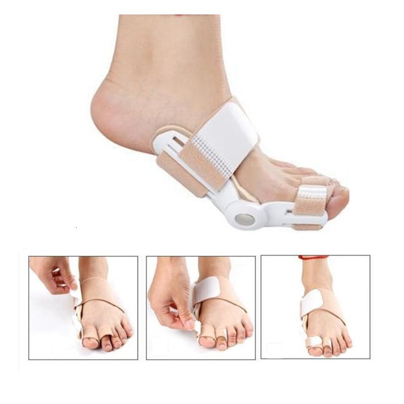1 pairs Big Toe Separator Hallux Valgus Orthopedic Bone Finger Pedicure Corrector Splint Correction Bunion Thumb Foot Care Tool