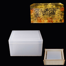 Silicone Mold Tissue-Box Craft Jewelry Crystal Epoxy Making Handmade for Home Resin DIY