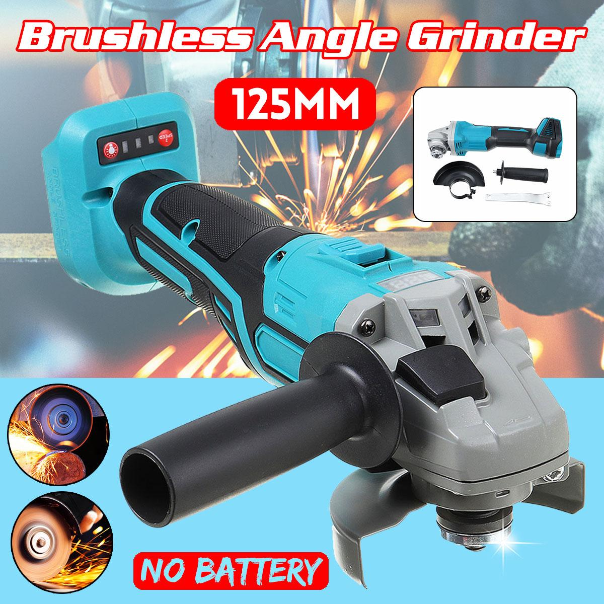 Digital 125mm Brushless Cordless Impact Angle Grinder No Battery DIY Power Tool Cutting Machine Polisher For 18V Makita Battery