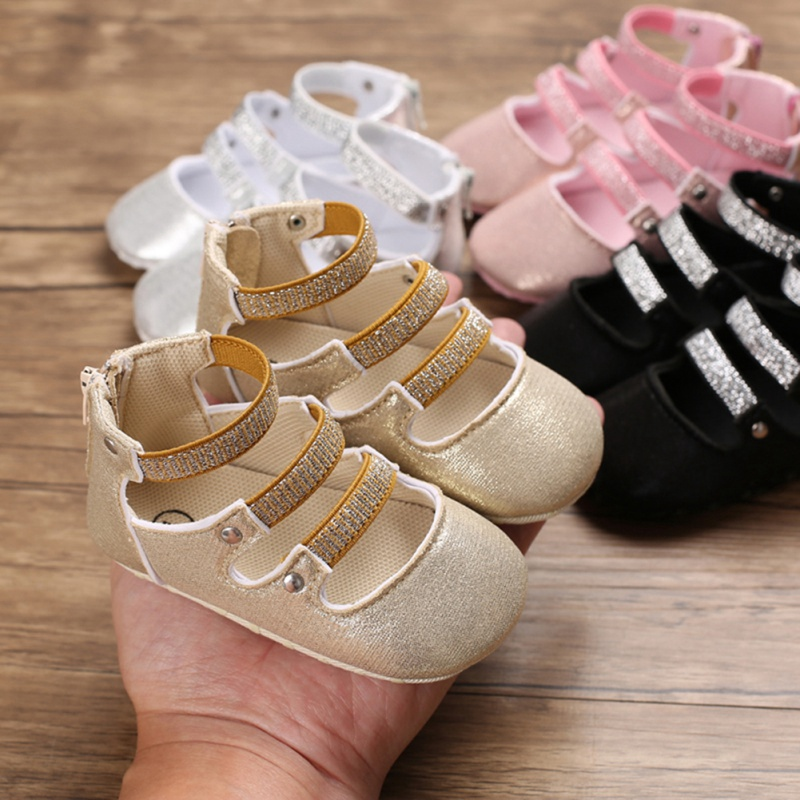 Baby Booties Newborn Infant Striped Girls Soft Sole Prewalker Casual Flats Shoes Crib Footwear First Walkers Baby Schoenen