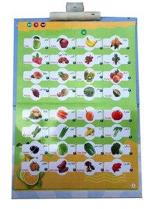 Image 5 - Inglês árabe livro de leitura multifunction aprendizagem e book para crianças, fruto animal cognitivo e diário duaas islam crianças