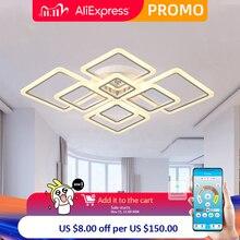 Arañas Led de Control remoto para sala de estar, dormitorio, comedor, lámparas de cocina, lámpara de brillo para el hogar, accesorios montados en interiores