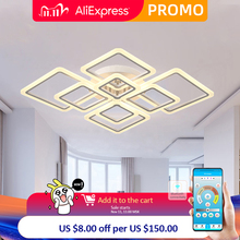 Remote Control Led Chandeliers for Living Room Bedroom Dining Room kitchen Lamps  luster Lamp Home Indoor Mounted Fixtures