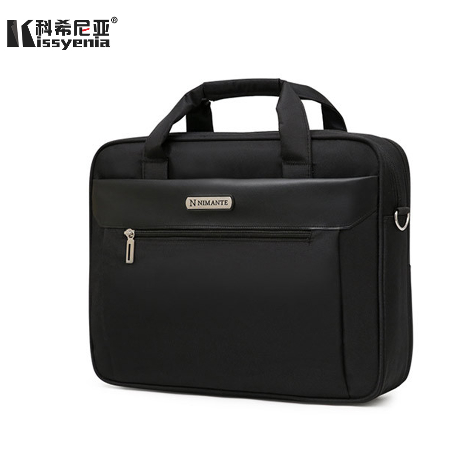 Kissyenia Briefcase Men For Laptop 13 14 15 Inch Travel Business Handbags A4 Waterproof Anti-theft Computer Shoulder Bags KS1003