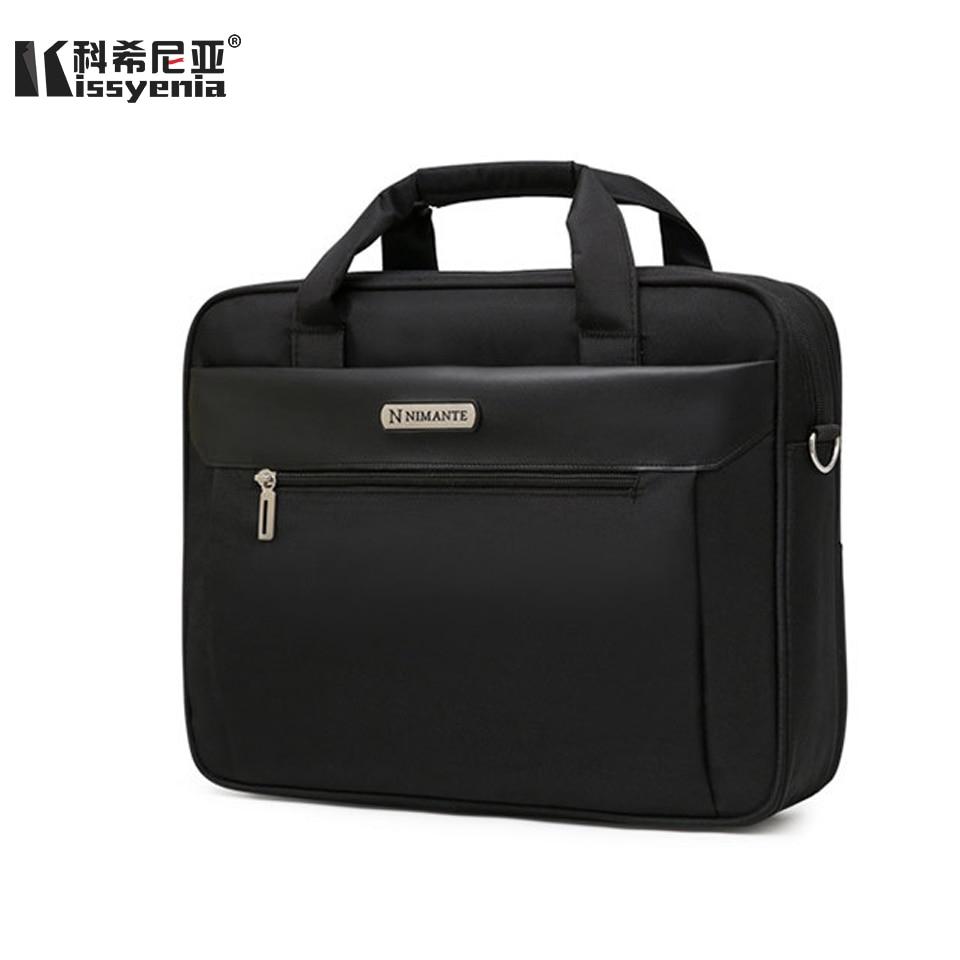 Kissyenia Briefcase Men For Laptop 13 14 15 Inch Travel Business Handbags A4 Waterproof Anti-theft Computer Shoulder Bags KS1003