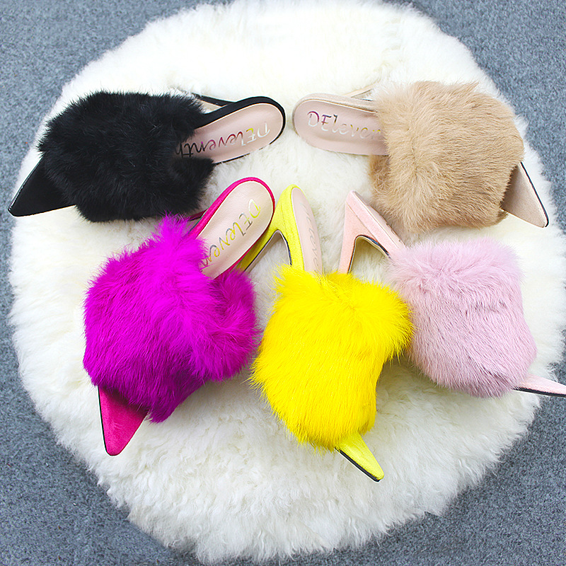 details for buy sale pretty cheap top 10 most popular rabbit fur heeled sandal ideas and get free ...